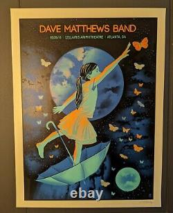 Dave Matthews Band DMB Poster 5/26/18 Cellairis Amphitheatre Atlanta GA