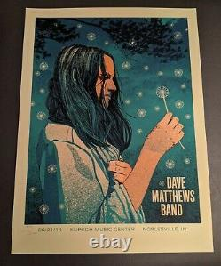 Dave Matthews Band DMB Poster 6/21/14 Klipsch Music Center Noblesville IN