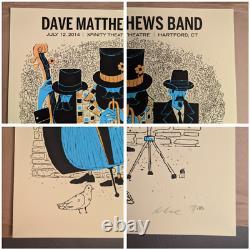 Dave Matthews Band DMB Poster 7/12/14 Xfinity Theatre Hartford CT