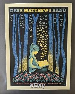 Dave Matthews Band DMB Poster 7/23/19 Ameris Bank Amphitheatre Alpharetta GA