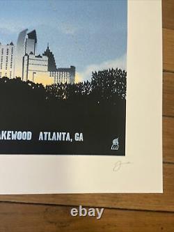 Dave Matthews Band DMB Poster 7/27/10 Aaron's Amphitheatre Atlanta Signed AP