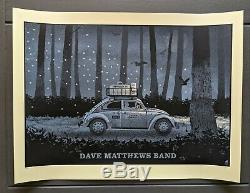 Dave Matthews Band DMB Poster 8/24/14 Greek Theatre Berkeley CA
