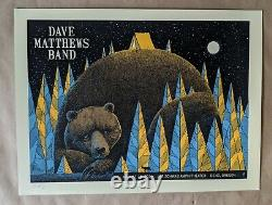 Dave Matthews Band DMB Poster 8/26/14 Les Schwab Amphitheater Bend OR