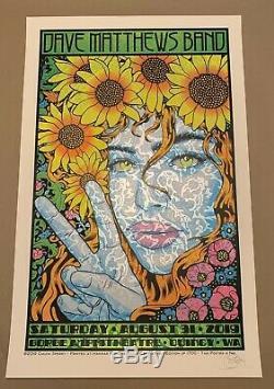 Dave Matthews Band DMB Poster Print 8/31 2019 Quincy WA Gorge N2 Chuck Sperry