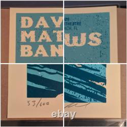Dave Matthews Band DMB Poster Set 8/14/09 8/15/09 Cruzan Amp West Palm Beach FL