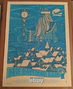 Dave Matthews Band DMB Poster Winter Tour 2012