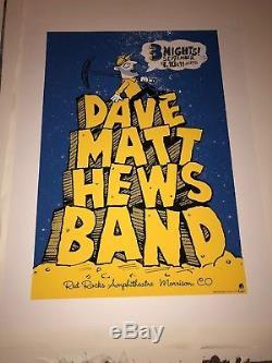 Dave Matthews Band DMB Red Rocks 2005 Poster Methane