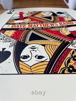 Dave Matthews Band DMB concert poster Queen of Spades Alpine 2009