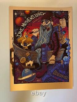 Dave Matthews Band Drive In Poster AC NJ 6/26/11 Mazza Gold Foil S/N Only 20