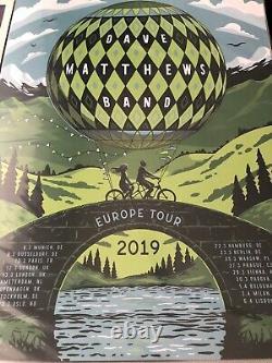 Dave Matthews Band Europe European Tour Poster 2019