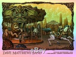 Dave Matthews Band Event Poster The Gorge Quincy WA Nostalgia Foil Edition of 60