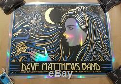 Dave Matthews Band FOIL Concert Poster Todd Slater Deer Creek Noblesville #/50