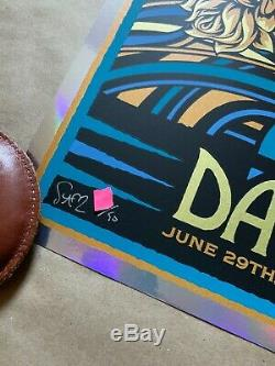 Dave Matthews Band FOIL VARIANT Poster Noblesville 2019 Deer Creek X/50 Slater