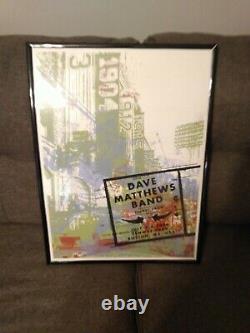 Dave Matthews Band Fenway Park 2006 Poster Boston DMB Very Rare Farmbarn 24x18