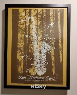 Dave Matthews Band Flower Series Complete Poster Set Framed Ultra Rare DMB