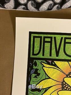Dave Matthews Band Gorge Amphitheatre N2 8/31/2019 Chuck Sperry Signed Poster