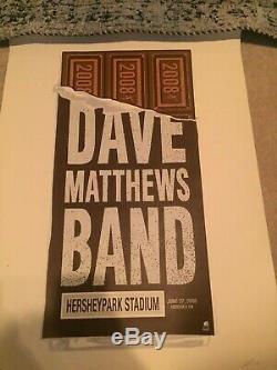 Dave Matthews Band Hershey Bar Poster Methane Studios 6.27.2008 DMB #98/700