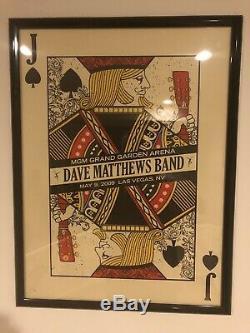 Dave Matthews Band Las Vegas 2009 Framed Jack of Spades Poster #47/800