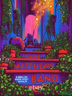 Dave Matthews Band London 2019 by James Flames SIGNED Poster Print Art MINT DMB