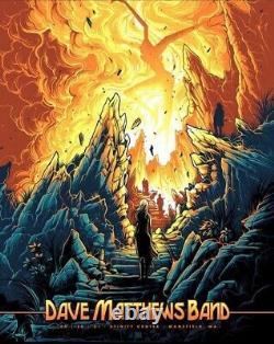 Dave Matthews Band Mansfield Poster 8/20/21 by Dan Mumford #296/1000