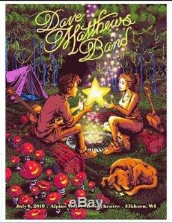 Dave Matthews Band N2 Poster Alpine Valley 7/6/19 James Flames #d MINT In-Hand