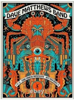 Dave Matthews Band N2 Poster West Palm Beach July 31 2021 Methane Studios AP
