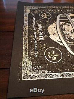 Dave Matthews Band New Orleans Saints Helmet Skull Poster 2010 Jackson Square