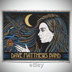 Dave Matthews Band Noblesville 2019 Poster Todd Slater Mint/Near Mint