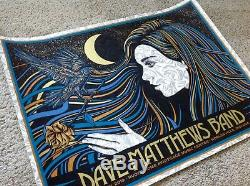 Dave Matthews Band Noblesville Poster Todd Slater N2 6/29/19 Signed AP Ruoff