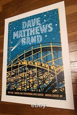 Dave Matthews Band POSTER Darien Lakes 2008 Methane MINT SIGNED Numbered/375