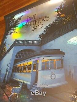 Dave Matthews Band POSTER FOIL VARIANT 7/2/19 #ed MINT Riverbend Moegly Official