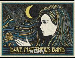 Dave Matthews Band POSTER N2 NOBLESVILLE 2019 TODD SLATER #ed MINT DEER CREEK