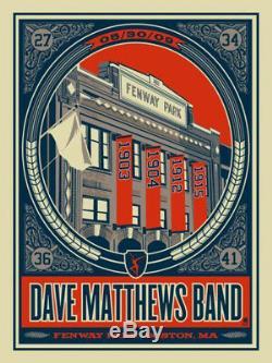 Dave Matthews Band Poster 09 Fenway Park Boston N2 #/1600