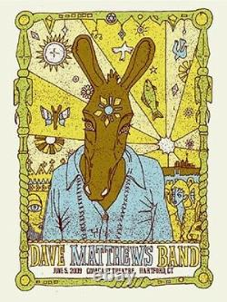 Dave Matthews Band Poster 09 Hartford CT N1 Signed & Numbered #/500