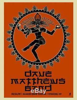Dave Matthews Band Poster 09 Syracuse NY Signed & Numbered #/600 Rare