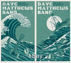 Dave Matthews Band Poster 09 West Palm Beach Set Matching Numbered #/600