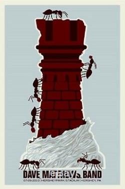 Dave Matthews Band Poster 10 Hershey PA Rook Signed & Numbered #/1250 Chess