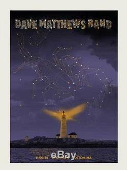 Dave Matthews Band Poster 10 TD Garden Boston N1 #/550