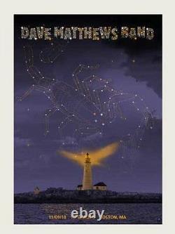 Dave Matthews Band Poster 10 TD Garden Boston N1 Signed & Numbered #/550