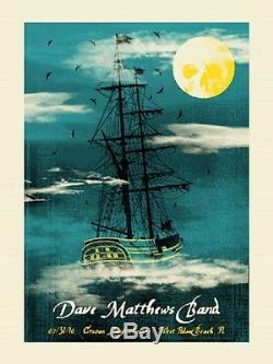 Dave Matthews Band Poster 10 West Palm Beach N2 Ghost Ship Numbered #/650