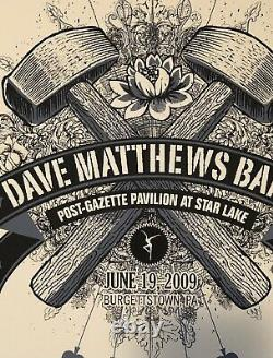 Dave Matthews Band Poster 10 of Spades PA 2009 #77/500 Extremely Rare