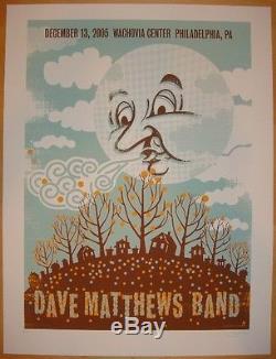 Dave Matthews Band Poster 12/13/2005 Philadelphia PA Numbered #/350 Rare
