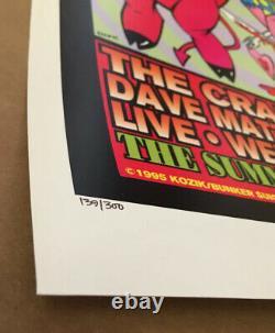Dave Matthews Band Poster 1995 Primus Weezer Kozik Signed Numbered Vintage DMB