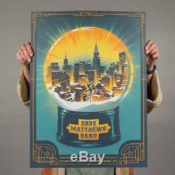 Dave Matthews Band Poster 2002 Madison Square Garden MSG NY Signed Numbered #800