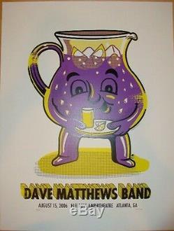 Dave Matthews Band Poster 2006 Atlanta, GA Signed AP Edition Rare! Sold Out