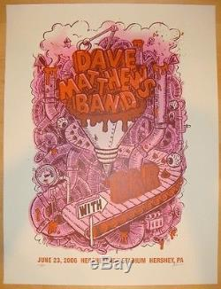 Dave Matthews Band Poster 2006 Hershey PA OAR Poster #/650 Rare