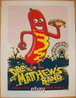 Dave Matthews Band Poster 2006 Tampa, FL Signed/#250 Rare! Sold Out