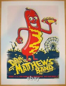 Dave Matthews Band Poster 2006 West Palm Beach Signed/# AP Rare! Sold Out
