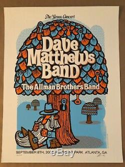 Dave Matthews Band Poster 2007 Piedmont Park Atlanta