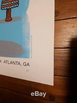 Dave Matthews Band Poster 2007 Piedmont Park Atlanta Concert AP RARE MINT